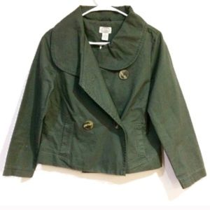 {Anthropologie Sitwell} Military Cotton Jacket